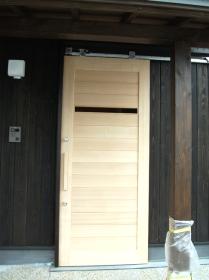 玄関上吊戸(無垢)