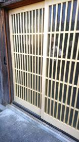 防府市・玄関格子・建具納品