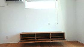 山口市オーダーメイド家具テレビボードを納品