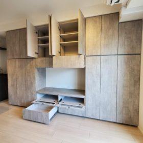 山口市のマンションに家具の取り付け
