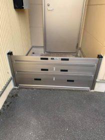 山口市の医療機関に防水板を設置