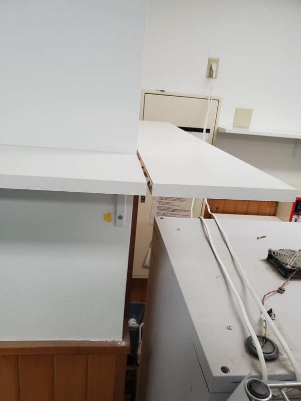 パソコン、プリンター置き棚
